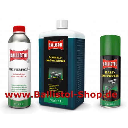 Browning Kit of 1 liter Quick Browning + Ballistol + Cold Degreaser