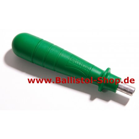 Removable handle for Ballistol cleaning rods