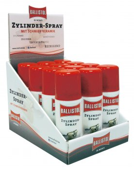 Counter display cylinder spray