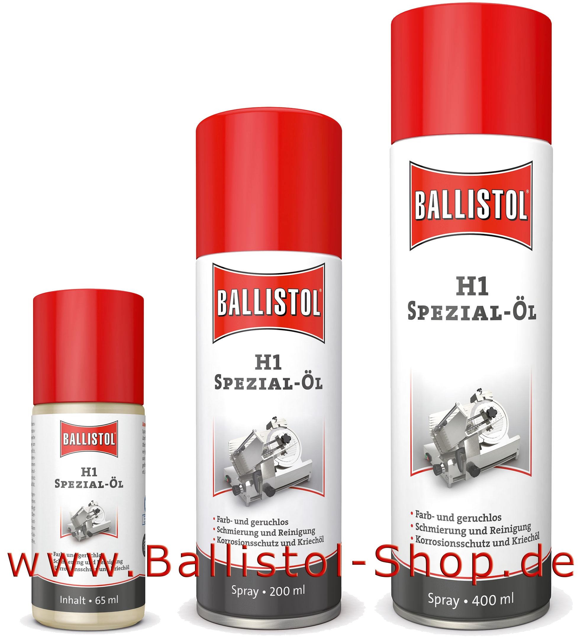ballistol h1 spray schmier l im lebensmittel bereich. Black Bedroom Furniture Sets. Home Design Ideas