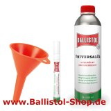Ballistol fine point oil pen + funnel + 500 ml Ballistol Oil