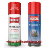 Ballistol Oil Spray 200 ml + Usta Workshop Oil 200 ml Spray