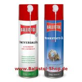 Ballistol + Usta Workshop Oil each 400 ml Spray