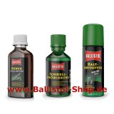 Browning Kit of 50 ml Quick Browning + Gunex Gun Oil and Universal Oil + Cold Degreaser