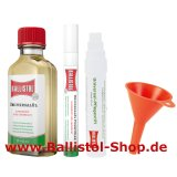 Care pen + fine oil pen + funnel + 50 ml Ballistol oil