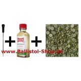 1-piece VFG Cleaning Rod 4 - 4,5 mm and superintensive barrel cleaning felts and 50 ml Ballistol