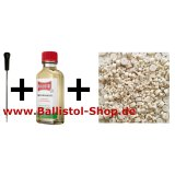 1-piece VFG Cleaning Rod 4 - 4,5 mm and barrel cleaning felts and 50 ml Ballistol