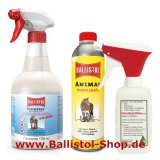 Insect protection for animals + animal care-oil + atomizer