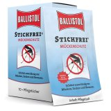 Wipes with Ballistol Stichfrei insect repellent 10 tissues in a box